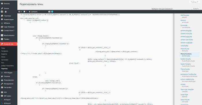backdoor в файле function.php