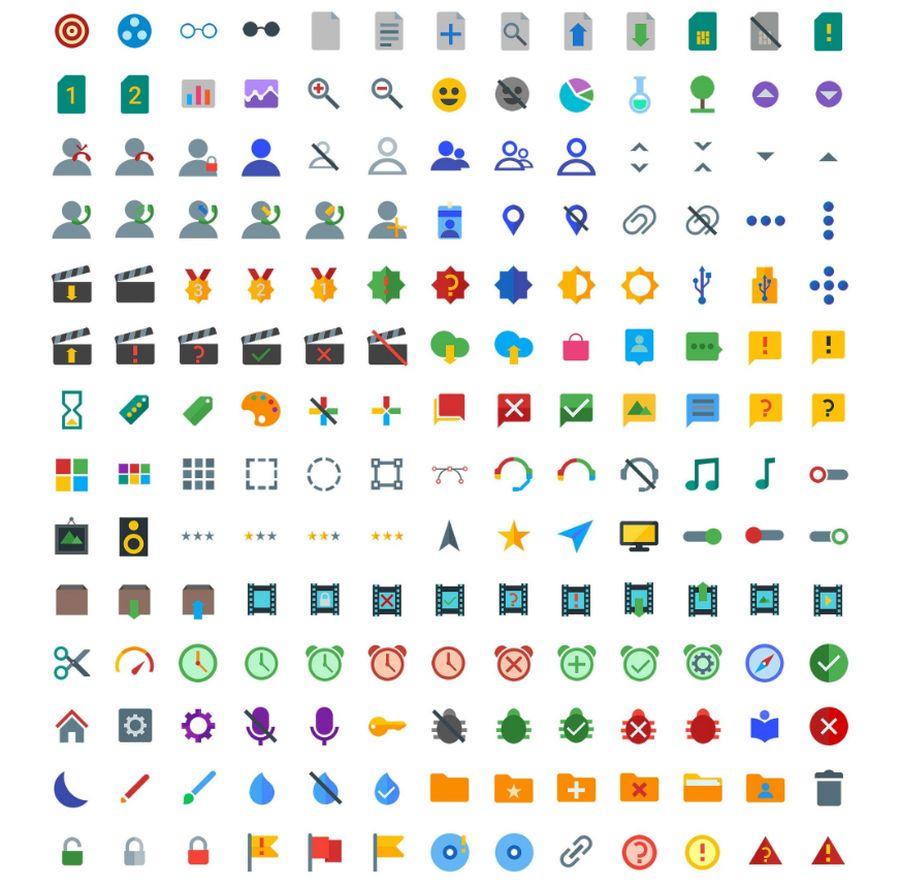 Бесплатная коллекция из 1000 иконок в стиле Material Design
