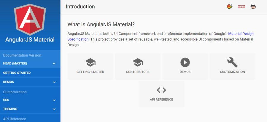 Бесплатный фреймворк Angular Material с набором UI элементов
