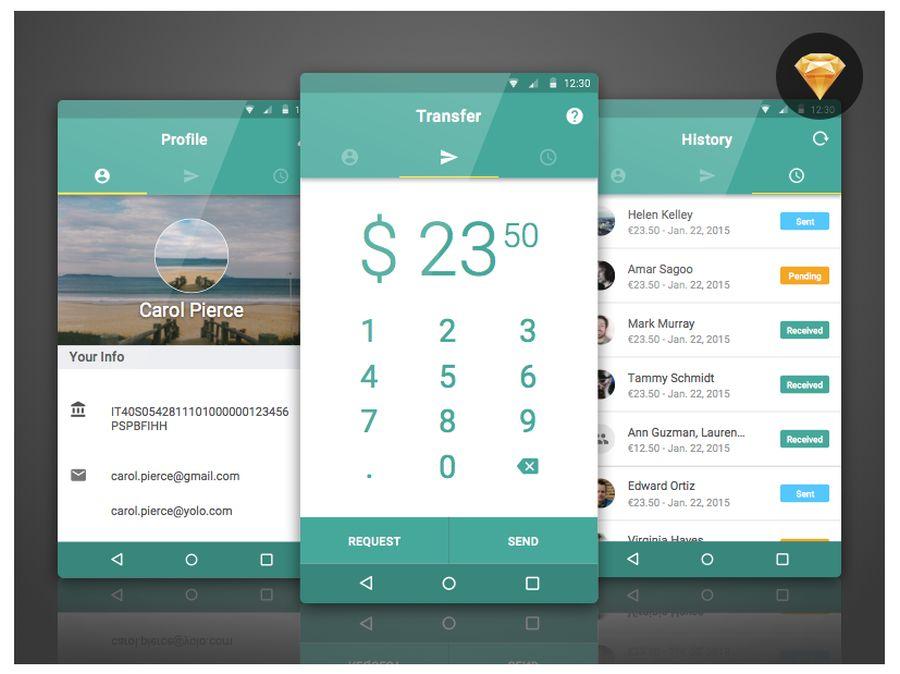 Bank Tag – Бесплатная концепция для дизайна мобильного приложения