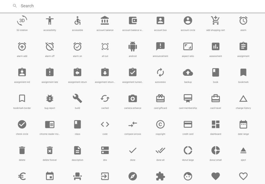 Google Material Design - коллекция бесплатных иконок