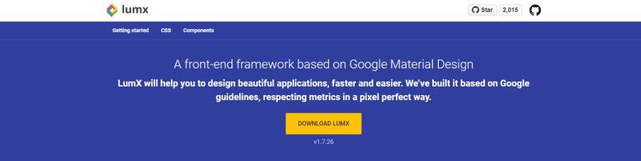 Бесплатный фреймворк LumX