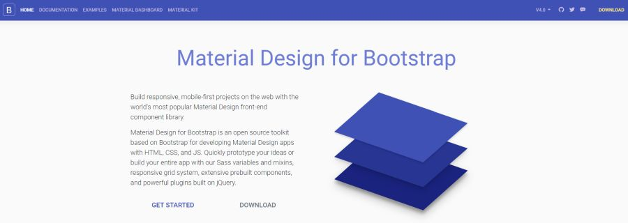 Bootstrap Material Design - Тема для Bootstrap