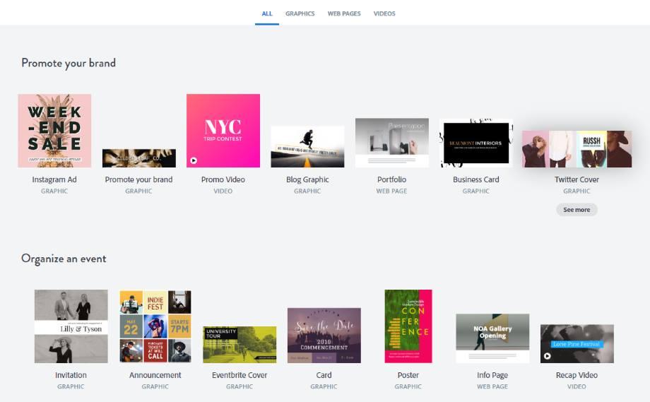 Комбайн для креативного инфодизайна -  Adobe Spark